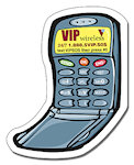 2.50 X 3.125 inch Cell Phone Shape Magnets